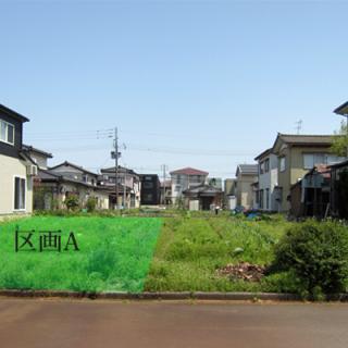 長岡市花園に南向きの公園が目の前と明るいお住まいが実現できる土地!!