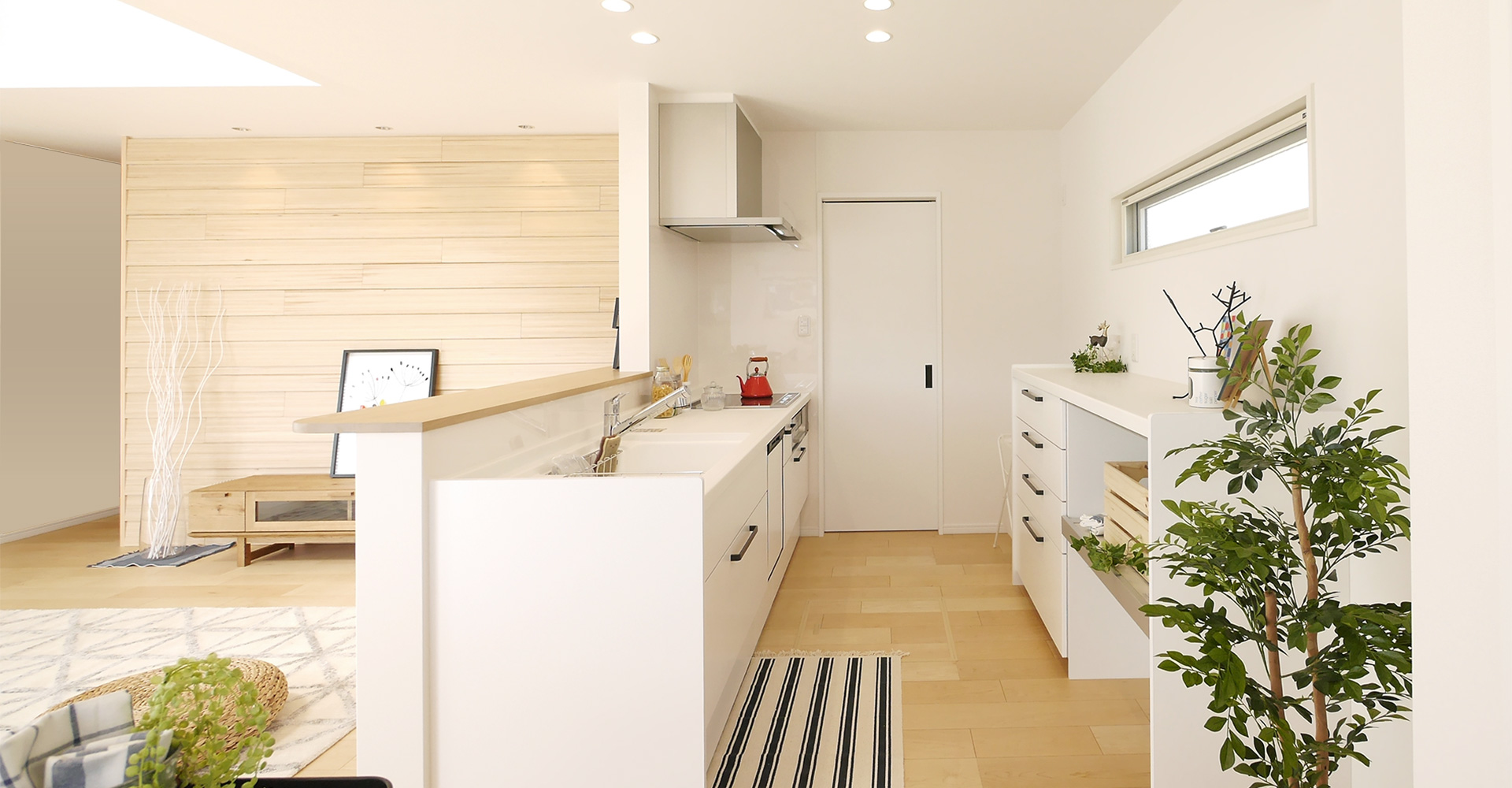 私のがんばらなくてもいい家。キッチンから洗面室、お風呂。ますっぐ通れるラクラク動線!