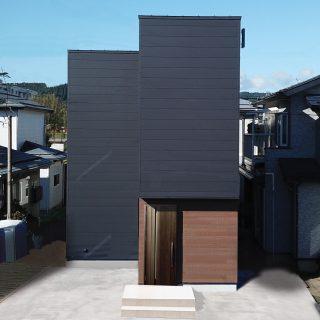 実家の敷地を分けて建てる。<br />【細長コンパクトな家】
