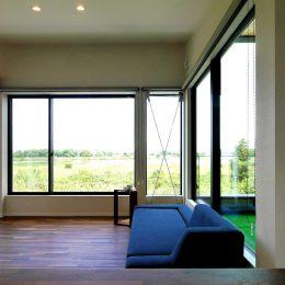 グリーンスタイル上沼デザイン住宅キッチンからの眺望