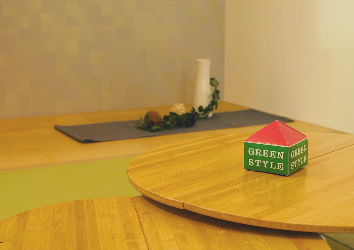 楽しもう お庭からもらう家族の時間 グリーンスタイル完成見学会 板の間には桃の節句にお雛様を。季節の行事も考えて。大事にして。