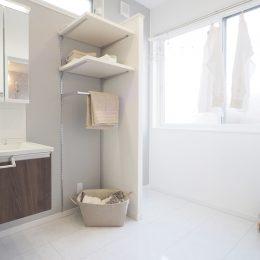 完成見学会「街なか。なかよし。2世帯住宅。」子世帯の洗面脱衣室