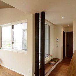 完成見学会 2F(LDK+Deck)の家 2階のインナーバルコニーは開放的で気持ちいい!