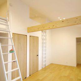 グリーンスタイルのお家見学会です。2階の子ども部屋。ロフトを付けた子ども心をくすぐる設計。